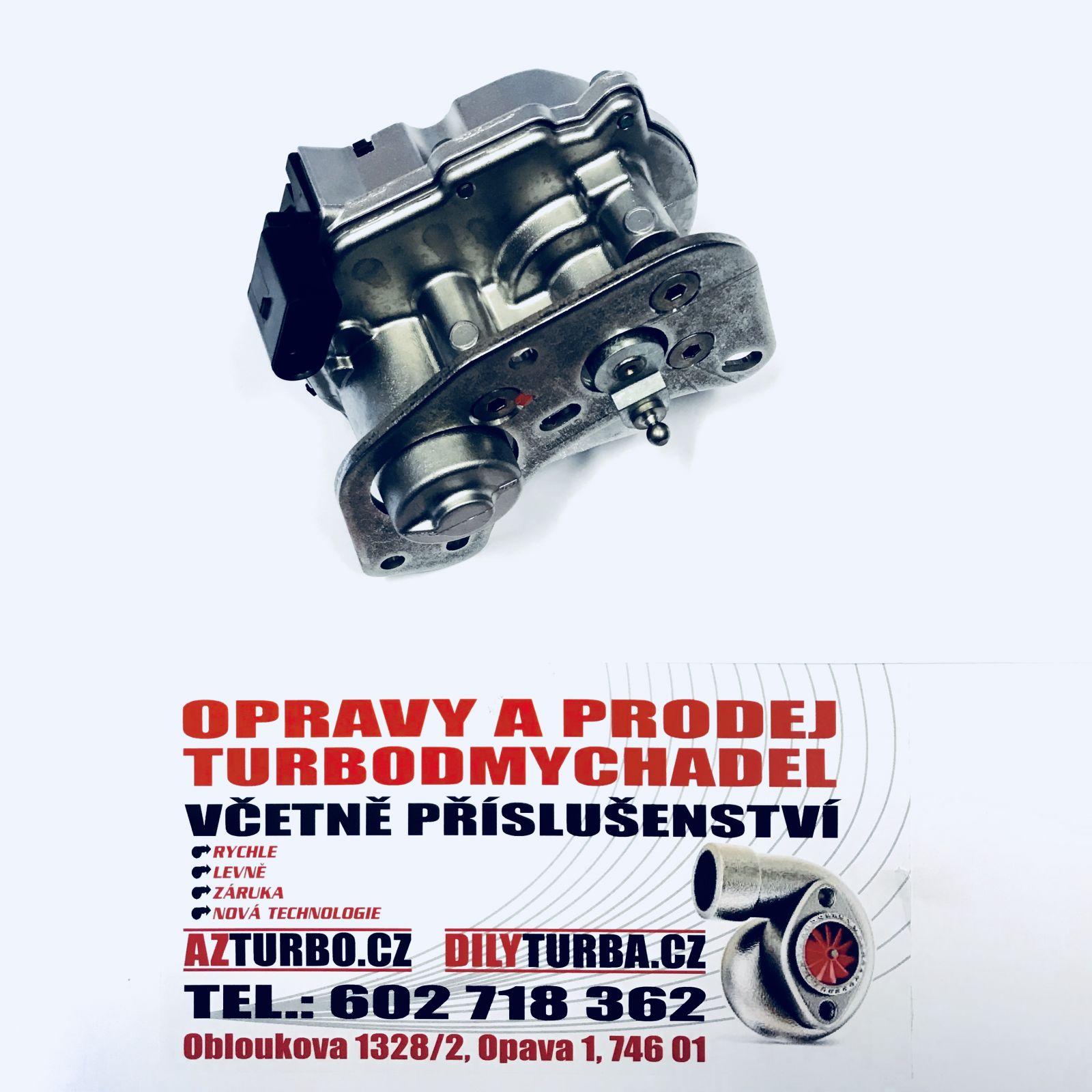 Elektronický ventil turba Audi A4, 3,0TDi, 150kW, rv.04-05, Motor: ASB, BKN, BKS, BMK, BNG KKK